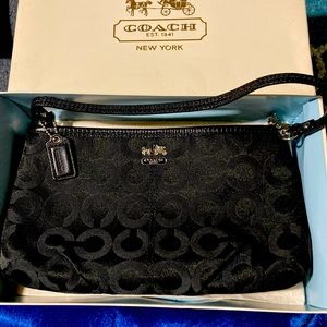 Coach Poppy Optic purse w/box